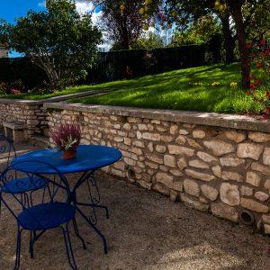 Jardin maison hôtes La Clé des Clos